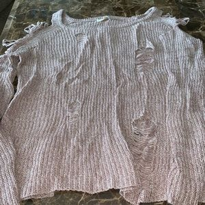 Gilded Intent destructed sweater